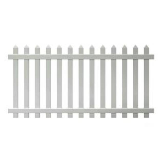 White Pvc Fence Panel 42 Inch H X 6 Foot L Rentals State