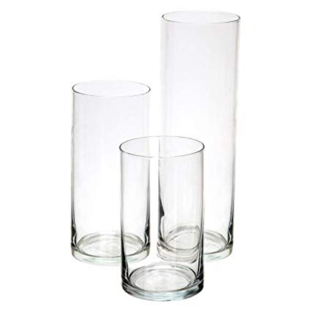 Where to rent MEDIUM CYLINDER VASE, GLASS - 8  TALL in State College PA, Altoona PA and surrounding metro areas