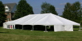 Rental store for TWIN TUBE FRAME TENT, 40  X 60  WHITE in State College PA