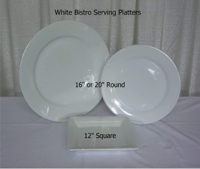 Where to rent PLATTER, 14  SQUARE - WHITE in State College, Altoona and all of Central Pennsylvania