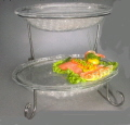 Where to rent TRAY STAND 2-TIER OVAL - CLEAR in State College PA