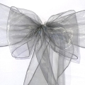 Rental store for CHAIR SASH - PEWTER SHIMMER ORGANZA in State College PA