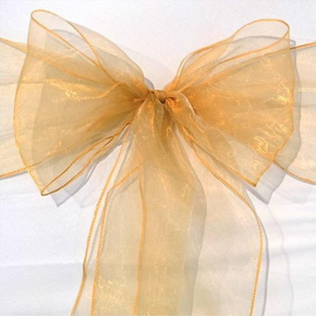 Where to rent CHAIR SASH - ANTIQ GOLD SHIMMER ORGANZA in State College, Altoona and all of Central Pennsylvania