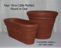 Rental store for PLANTER, TERRA-COTTA - OVAL in State College PA
