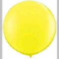 Rental store for 3  LATEX BALLOON - YELLOW, INFLATED in State College PA