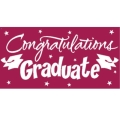 Rental store for GIANT GRAD BANNER - BURGUNDY in State College PA