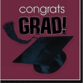 Rental store for CONGRATS GRAD BEV NAPKIN - BURGUNDY in State College PA