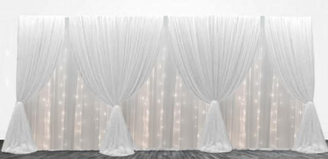 Where to rent SWAGGED DRAPE w LIGHTS - 16  wide in State College, Altoona and all of Central Pennsylvania
