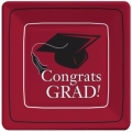 Rental store for CONGRATS GRAD 7  SQ PLATE - BURGUNDY in State College PA