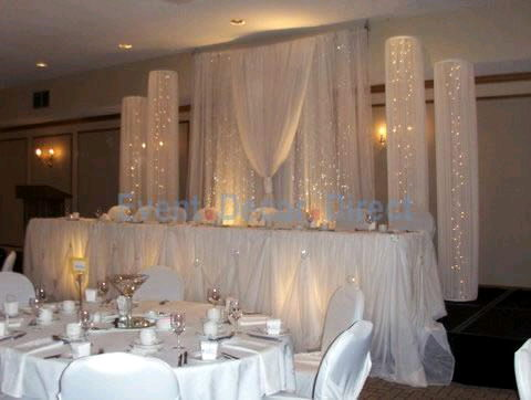 Where to rent WHITE FABRIC LIGHT COLUMN, 9.5  TALL in State College, Altoona and all of Central Pennsylvania