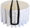 Rental store for WHITE BLACK ORGANZA SATIN RUNNER in State College PA