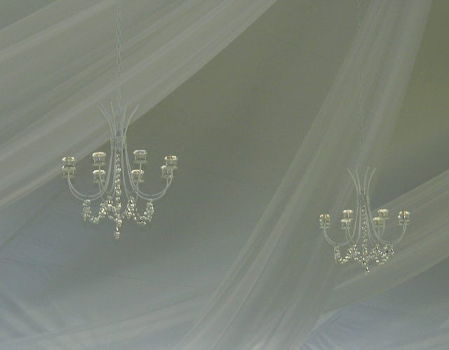 Where to rent CRYSTAL BEADED WHITE CHANDELIER in State College, Altoona and all of Central Pennsylvania