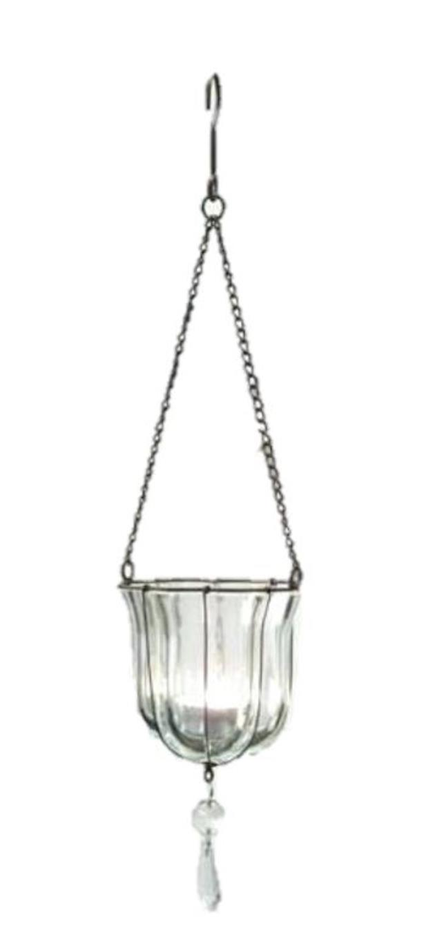 Where to rent HANGING GLASS VOTIVE w  BEADS in State College, Altoona and all of Central Pennsylvania