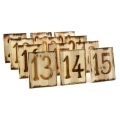 Where to rent WOODBURNED TABLE NUMBERS, 1 - 12 in State College PA
