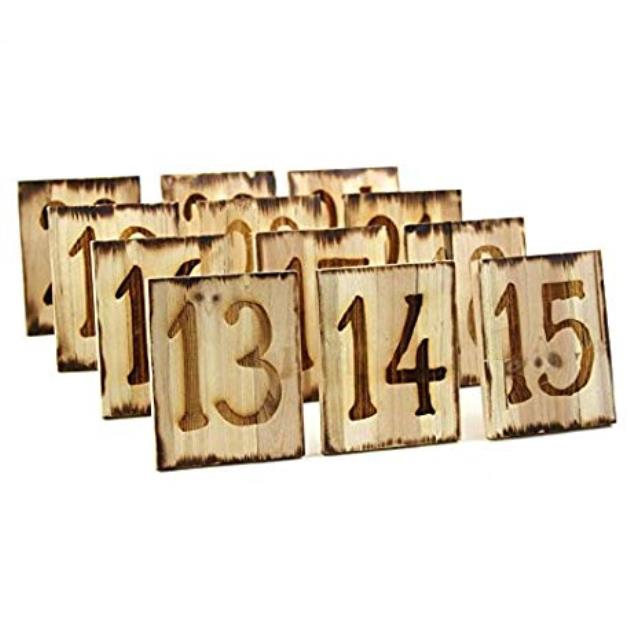 Where to rent WOODBURNED TABLE NUMBERS, 13 - 24 in State College, Altoona and all of Central Pennsylvania