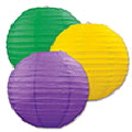Rental store for MARDI GRAS PAPER LANTERNS, 9.5  - 3 PKG in State College PA