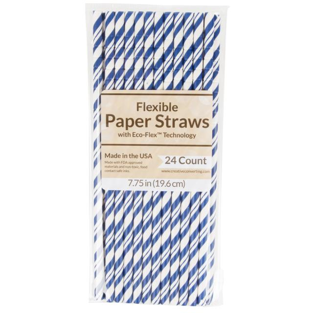 Where to find PAPER STRAW, TRUE BLUE - 24 PK in State College