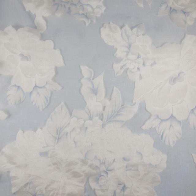 Where to find WHITE BLUE FLORAL SHEER - 120  RND in State College