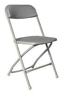 Where to rent GRAY FOLDING CHAIR - POLY in State College, Altoona and all of Central Pennsylvania
