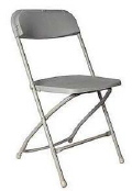 Rental store for GRAY FOLDING CHAIR - POLY in State College PA