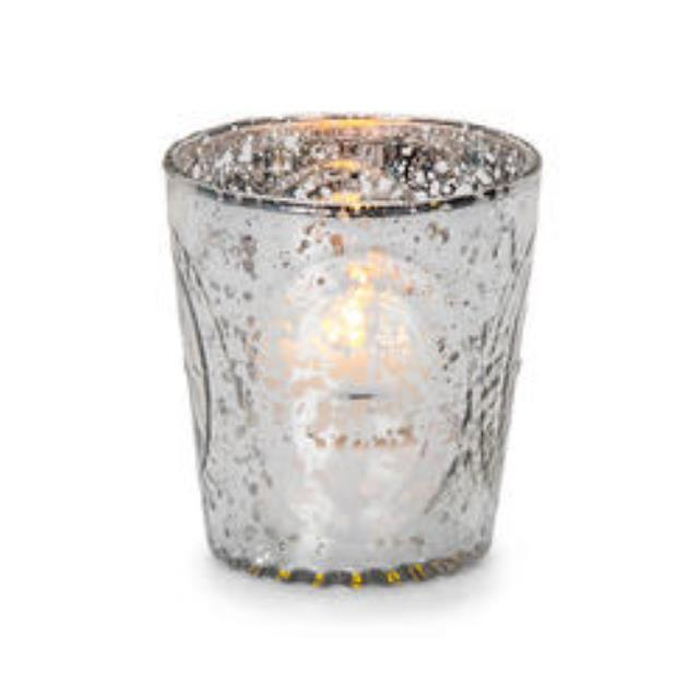 Where to rent MERCURY GLASS VOTIVE, SILVER in State College, Altoona and all of Central Pennsylvania