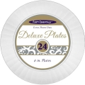 Rental store for DELUXE PLASTIC 6  PLATE, WHITE - 24 CT in State College PA