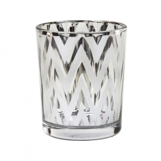 Where to rent SILVER CHEVRON VOTIVE HOLDER in State College, Altoona and all of Central Pennsylvania