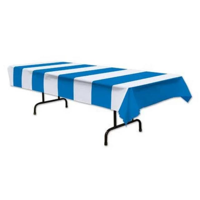 Where to rent BLUE   WHITE PLASTIC TABLECOVER, RECT in State College, Altoona and all of Central Pennsylvania