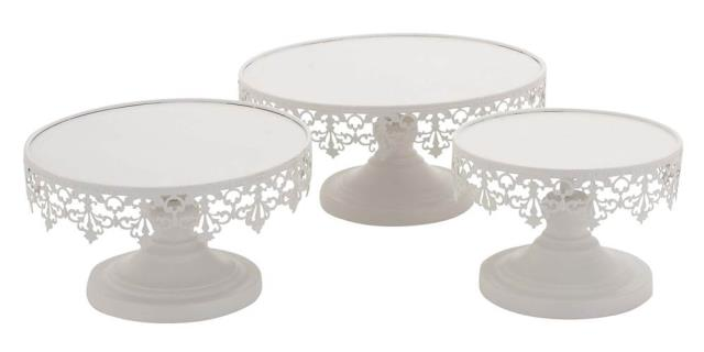 Where to rent WHITE METAL CAKE STAND, 8  DIAMETER in State College, Altoona and all of Central Pennsylvania