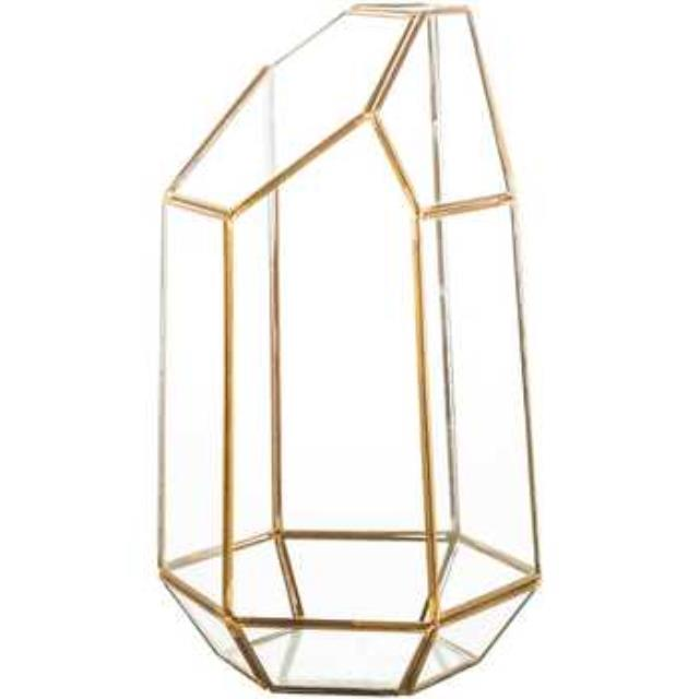 Where to find GEOMETRIC LANTERN - GLASS   BRASS in State College