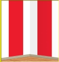 Rental store for RED   WHITE STRIPE BACKDROP, 4  X 30 in State College PA