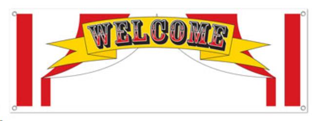 Where to find RED   WHITE WELCOME BANNER, 5  X 21 in State College