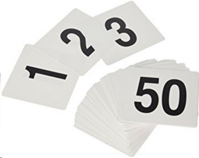 Where to find TABLE NUMBER CARDS,  1-25 in State College