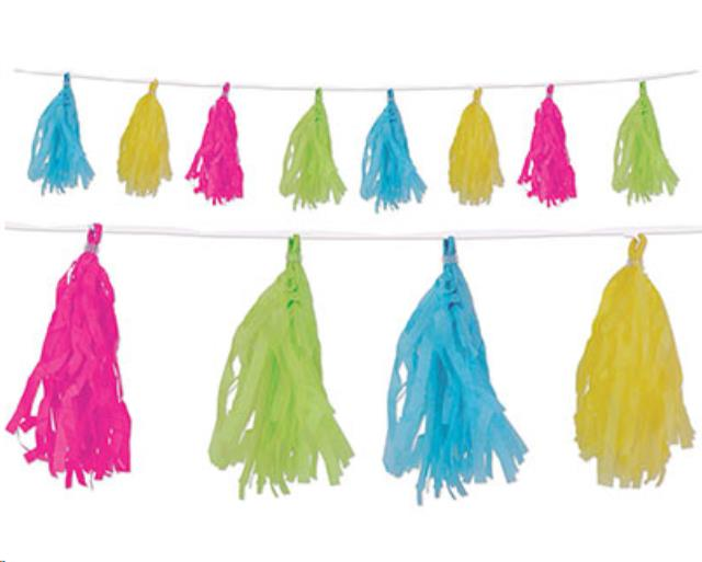 Where to rent LUAU TISSUE TASSEL GARLAND, 8 in State College, Altoona and all of Central Pennsylvania