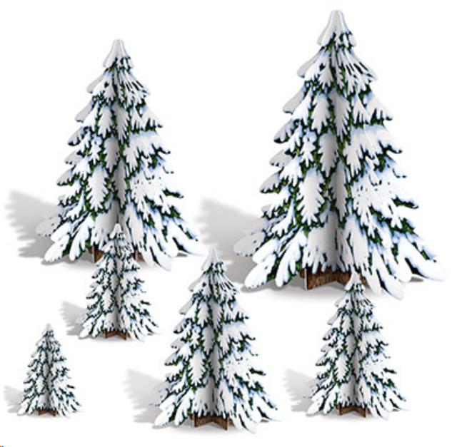 Where to rent 3-D PINE TREE CENTERPIECES 6 PK,  4 -12 in State College, Altoona and all of Central Pennsylvania