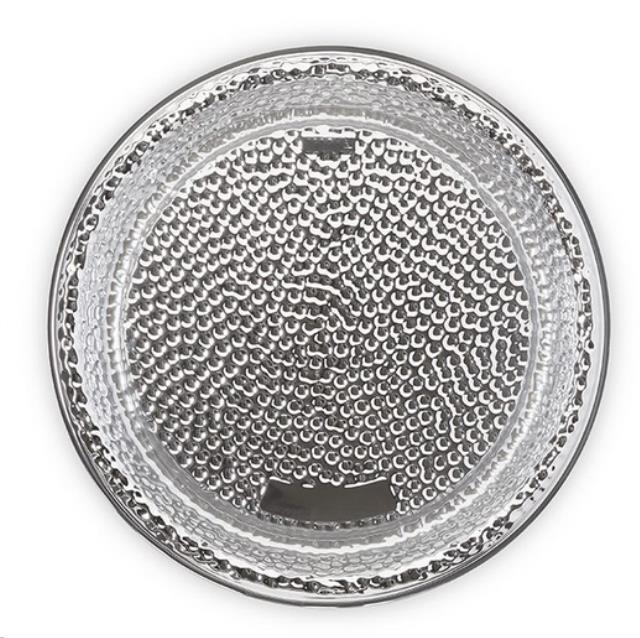 Where to find 18  HAMMERED ROUND TRAY, SILVER in State College