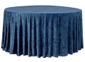 Rental store for NAVY VELVET TABLECLOTH - 120  RND in State College PA