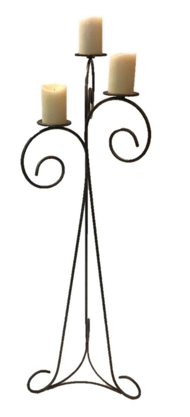 Where to rent IRON FLOOR CANDELABRUM - 3 PILLAR in State College, Altoona and all of Central Pennsylvania