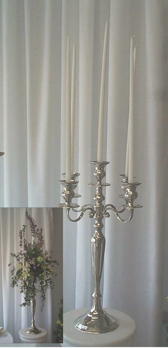 Where to rent SILVER CANDELABRA - 28  TALL in State College, Altoona and all of Central Pennsylvania