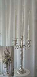 Where to rent SILVER CANDELABRA - 28  TALL in State College PA