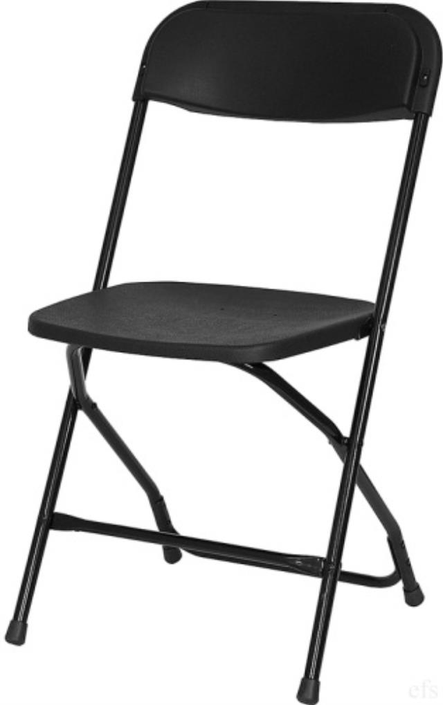 Where to rent BLACK FOLDING CHAIR - POLY in State College, Altoona and all of Central Pennsylvania