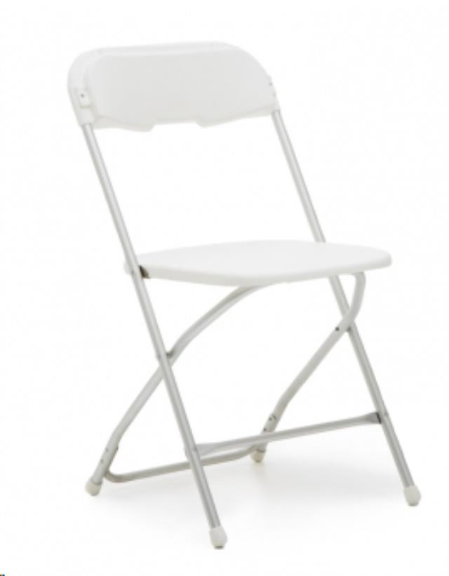 Where to find WHITE FOLDING CHAIR - POLY in State College