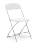 Rental store for WHITE FOLDING CHAIR - POLY in State College PA